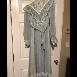 Gunne Sax Sky Blue Prairie Dress